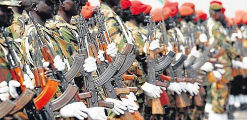 Soldados del SPLA ensayan desfile del 9 de Julio GORAN TOMASEVIC / REUTERS