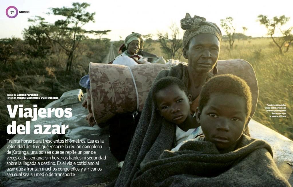 Viajeros del azar:LaVanguardia:Parellada:Congo:Portada