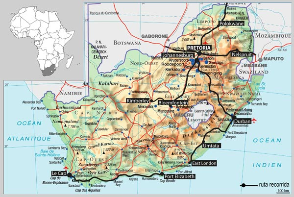 Sudafrica Recorrido