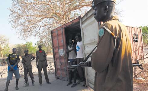 Un contenedor y 21 presos en Sudán el Sur