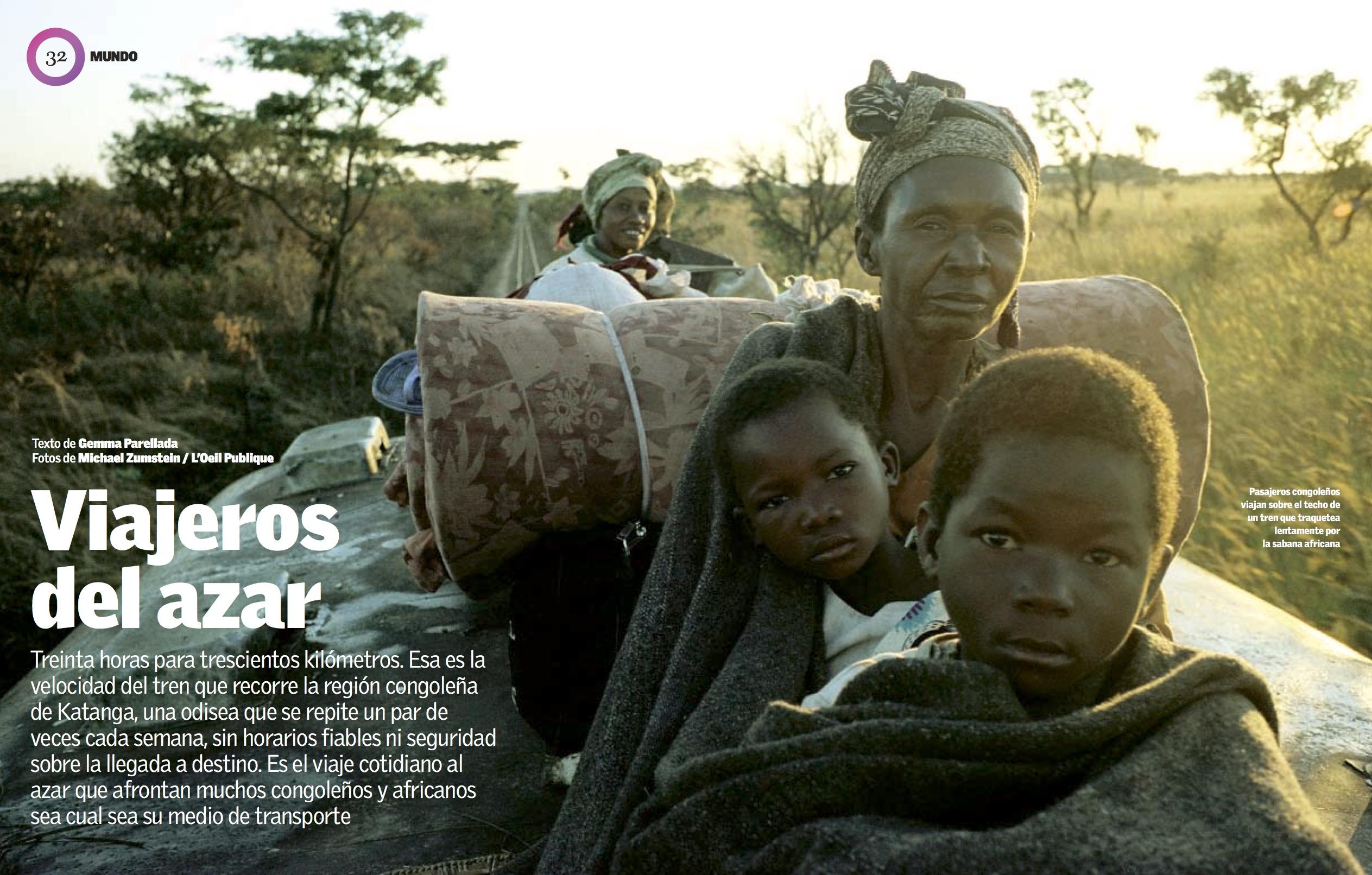 Un tren en las entrañas de Congo